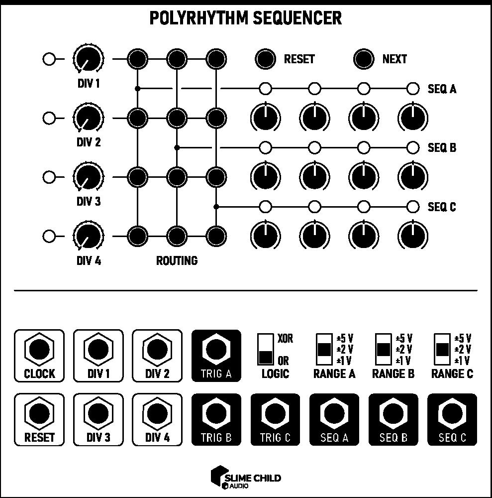 PolyRhythm Sequencer Outline Outline